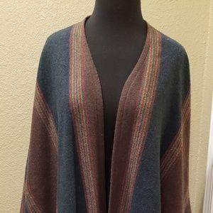 Beautiful Pendleton Fringed wrap around cape